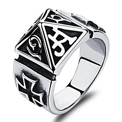 Pyramid Stainless Steel Men's Ring