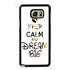 Keep Calm and Dream Big Design Slim Metal Back Case for Samsung Galaxy Note 3/Note 4/Note 5/Note 5 edge