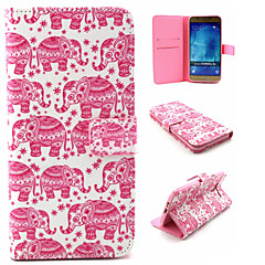 Pink Elephant Pattern PU Leather TPU Full Body Case With Card Holder for Samsung Galaxy A8
