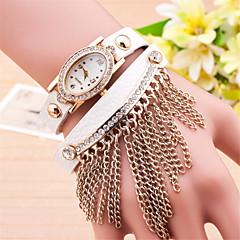 L.WEST Ladies' The Elliptical Dial Tassel Diamonds Belt Quartz Watch Cool Watches Unique Watches