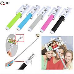 intégrée extensible commande par câble de poche selfie bâton câble réglable télécommande monopode pour iPhone6, samsung