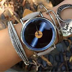 Vintage Women's Watch Vintage Disc Watch Pu Belt Students Watch Jewelry Accessories Cool Watches Unique Watches Fashion Watch