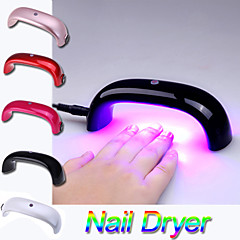 AL-0701 Fashion Portable 9W 100-240V LED Light Bridge shaped Mini Curing Nail Dryer Nail Art Lamp Care Machine