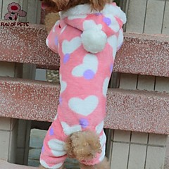 Gatos / Perros Saco y Capucha / Pantalones Rosado Invierno Corazones Boda / Cosplay