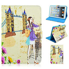Fashion Architectural Girl Painted Protective Sleeve for iPad Minii/Mini1/Mini2/Mini3