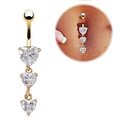 Navel & Bell Button Rings ( Rostfritt stål/Zircon , Som bilden ) - till Bröllop/Party/Dagligen/Casual