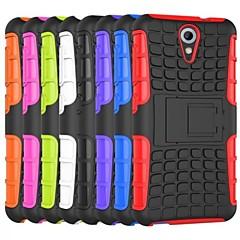 Voor HTC hoesje Schokbestendig / met standaard hoesje Achterkantje hoesje Pantser Hard PC HTC