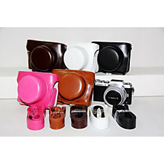 Dengpin PU Leather Camera Case Bag Cover with Shoulder Strap for Panasonic GF7 with 12-32mm Lens (Assorted Colors)