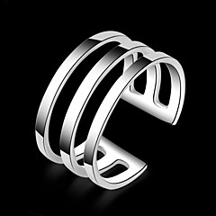 Silver  Ring Band Rings Party/Daily/Casual 1pc