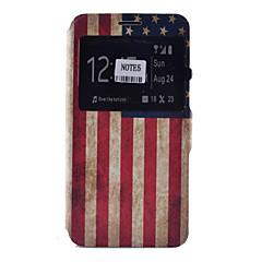 Na Samsung Galaxy Note Etui na karty / Z podpórką / Z okienkiem / Flip / Wzór Kılıf Futerał Kılıf Flaga Miękkie Skóra PU SamsungNote 5 /