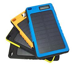 5800mAh bateria externa móvel com carga solar para iphone Samsung e outros dispositivos móveis (preto / azul / amarelo / laranja)