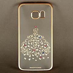 meephone série elegante padrão de borboleta pc volta caso capa para Samsung Galaxy S6 borda