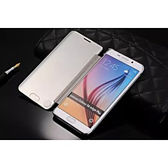Newest Flip Cover Mirror Surface Iuxurious Electroplate Pc Mobile Phone Shell for Samsung S6 Edge Plus Assorted Colors