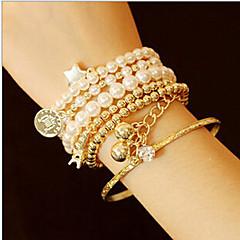 MISSING U Alloy / Imitation Pearl Bracelet Cuff Bracelets / Strand Bracelets Daily / Casual 1set Jewelry