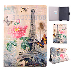 Transmission Tower Pattern PU Material Flip Tablet Protective Shell for iPad Air