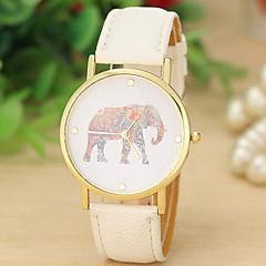reloj de correa de línea del coche reloj elefante de impresión de las señoras