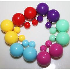 Stud Earrings Fashion Stud Double Pearl Earrings Candy Earring Jewelry for Women