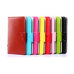 fast färger mönster av hög kvalitet PU läder med stativ fallet för 7 tum och 8 tum universell tablet