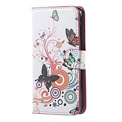 Teste padrão de borboleta caso carteira de couro suporte tampa realista para líquido acer Z520 telefone celular capas capas
