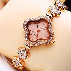 Women's Luxury Trend Flower Shape Diamond Dial Diamond Flower Shape Strap Fashion Quartz Bracelet Watch