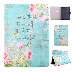 Pink Flower Pattern PU Material Flip Tablet Protective Shell for iPad Air