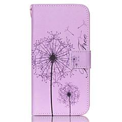 For Samsung Galaxy etui Kortholder Pung Med stativ Flip Etui Heldækkende Etui Mælkebøtte Kunstlæder for SamsungS6 edge plus S6 edge S6 S5