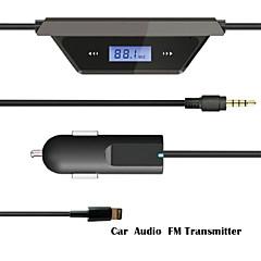 drahtlose 3,5-mm-Auto LCD-Anzeigen-FM-Kabel für iPhone 5s 6puls ipod
