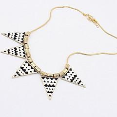 Pop Women Jewelry Triangle Pendant Choker Sweater Necklace