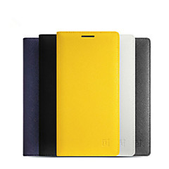 For OnePlus Case Card Holder / Auto Sleep/Wake / Flip Case Full Body Case Solid Color Hard PU Leather One Plus