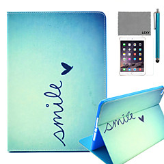 LEXY® Cute Heart Pattern PU Leather Flip Stand Case with Screen Protector and Stylus for iPad Air 2/iPad 6
