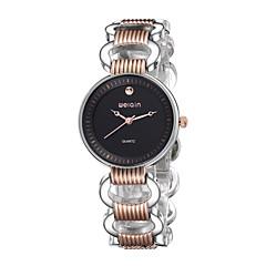 WeiQin Dames Modieus horloge Kwarts Legering Band Wit Zwart Goud Rose