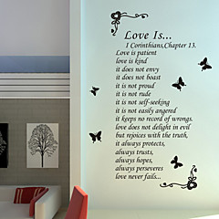 Words & Quotes Wall Stickers Plane Wall Stickers Family Word Saying PVC Wall Stickers
