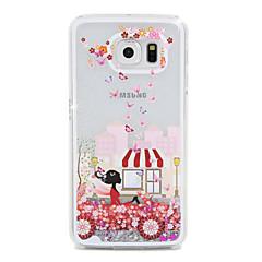Mädchen Flusssand PC-Material Handy-Tasche für Samsung Galaxy S6 / S6 Kante