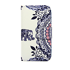 Varten Nokia kotelo Lomapkko / Korttikotelo / Tuella Etui Kokonaan peittävä Etui Elefantti Kova Tekonahka Nokia Nokia Lumia 635