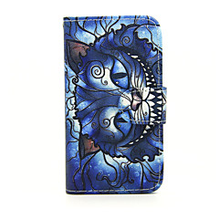Για Θήκη Nokia Πορτοφόλι / Θήκη καρτών / με βάση στήριξης tok Πλήρης κάλυψη tok Γάτα Σκληρή Συνθετικό δέρμα Nokia Nokia Lumia 630