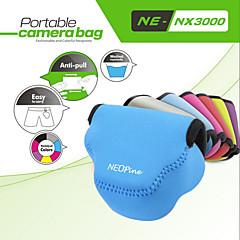 fasjonable neopine neopren myk trekant kameraveske bag for samsung NX3000 kamera 20-50mm objektiv