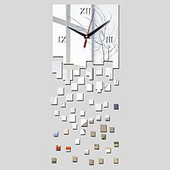 3D Acrylic Mirror Home Decor Square Wall Clock Mirror Surface Sticker