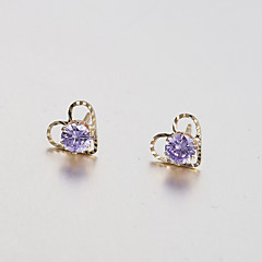 Earring Heart Stud Earrings / Hoop Earrings Jewelry Women Wedding / Party / Daily / Casual Alloy 2pcs