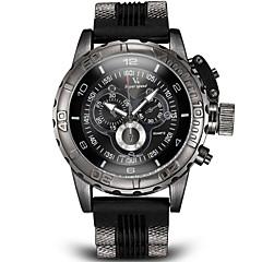 Herren Armbanduhr Japanischer Quartz Rechenschieber Silikon Band Schwarz / Weiß / Blau / Grau Marke- V6