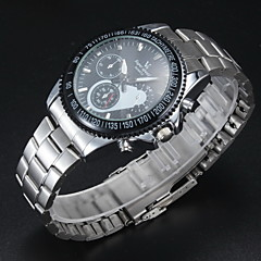 Men's Stylish Racing Dial Steel Band Quartz Wrist Watch Cool Watch Unique Watch