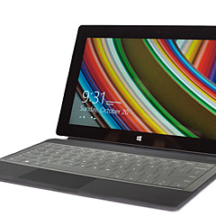 XSKN ultra mince transparent clair peau du clavier TPU translucide peau du clavier pour Microsoft Surface Pro 3, nous layout