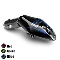 12V ~ 24V USB-Autoladegerät mit FM-Transmitter MP3-Player-Funktion, Unterstützung USB-Speicher-Eingabe / 3,5 mm Line-in