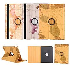 ipad 4/3/2 için dünya haritası 360⁰ kasa tasarımı standı fonksiyonu yüksek kaliteli pu deri çanta