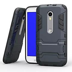 πλαστικό και TPU 2 σε 1 περίπτωση κάλυψης με βάση την πανοπλία πίσω περίπτωση shockp για MOTOROLA MOTO G3