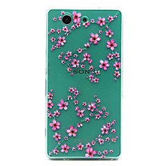 Plum flower Pattern TPU Relief Back Cover Case for Sony Xperia Z3 Compact