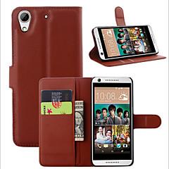 Pour Coque HTC Portefeuille Porte Carte Avec Support Clapet Coque Coque Intégrale Coque Couleur Pleine Dur Cuir PU pour HTC