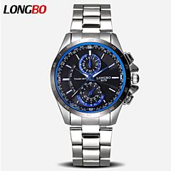 longbo® brändin muodissa miesten kvartsi kellot valoisa kädet muoti rento ruostumatonta terästä katsella mies