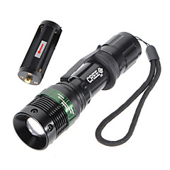 Torce LED (Impermeabili / Ricaricabile / Resistente agli urti /  Strike Bezel / Tattico / Emergenza) - LED 3 Modo 500 Lumens 18650 / AAA