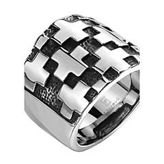 Wall Cross Exaggerated Personality Rock Titanium Steel Stainless Steel Men's Ring