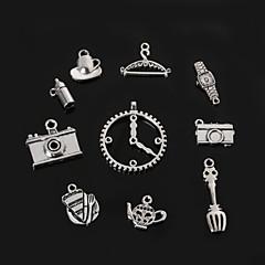 beadia pingentes charme antigo do metal do relógio de prata DIY jóias acessórios câmera